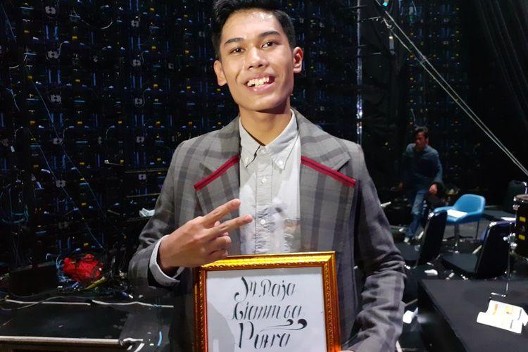 Nuca usai tampil di babak Spektakuler Show Top 4 Indonesian Idol X, di kawasan Kebon Jeruk, Jakarta Barat, Selasa (11/2/2020) dini hari.