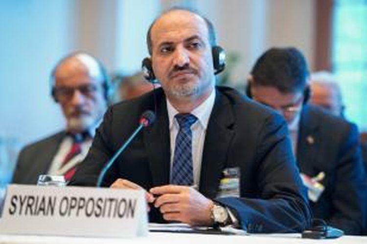 Pemimpin oposisi Suriah, Ahmad Jarba.