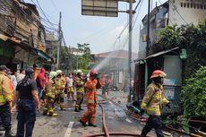 Kebakaran di Belakang Senayan City, 25 Rumah Hangus Terbakar