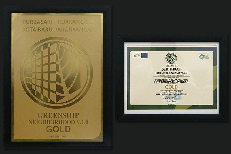 Kota Baru Parahyangan (KBP) meraih dua penghargaan dari lembaga sertifikasi bangunan hijau, yaitu Green Building Council Indonesia (GBCI). Penghargaan tersebut yaitu Greenship Neighborhood dan Greenship Kawasan.