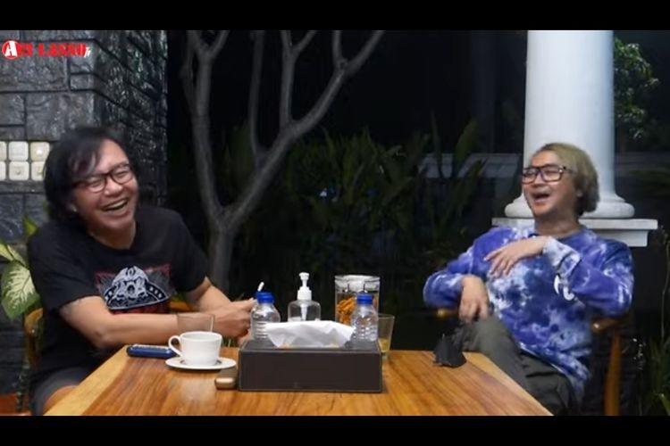 Ari Lasso dan Thomas Ramdhan berbincang dalam kanal YouTube Ari Lasso.