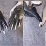 Video Cuci Tangan Pakai Tinta Hitam Viral di Twitter, Apa Uniknya?