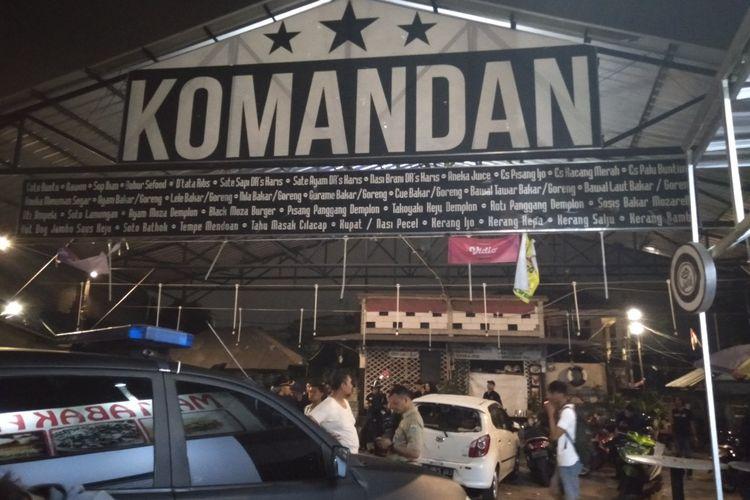 Restoran Komandan yang jadi korban pengerusakan suporter bola di Kasablanka, Jakarta Selatan, Selasa (2/8/2019)