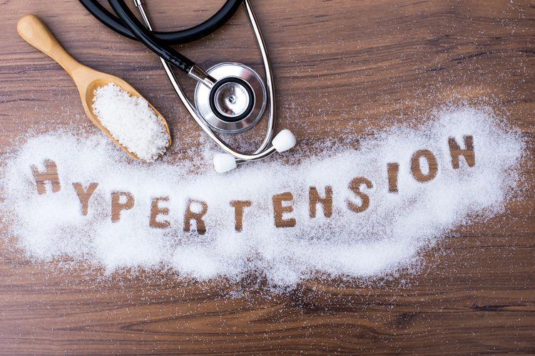 Ilustrasi penyakit hipertensi (tekanan darah tinggi) yang disebabkan konsumsi garam berlebihan.