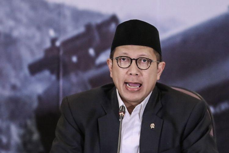 Menteri Agama Lukman Hakim memberikan keterangan pers hasil sidang isbat di Kementerian Agama RI, Jakarta, Kamis (14/06/2018). Pemerintah menetapkan hari raya Idul Fitri 1439 H jatuh pada hari Jumat 15 Juni 2018.