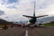 Pesawat Dirgantara Jayawijaya Alami Masalah di Bandara Wamena