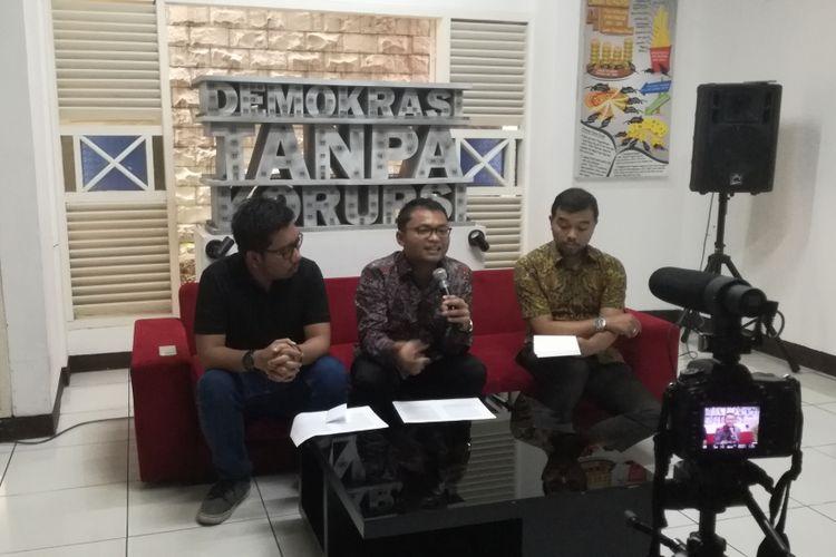 Diskusi bertajuk Urgensi Mutual Legal Assistance antara Indonesia dan Swiss di kantor ICW, Jakarta, Kamis (14/2/2019).