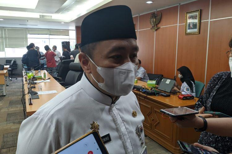 Asisten Pemerintahan DKI Jakarta Sigit Wijatmoko saat ditemui di Gedung DPRD DKI Jakarta, Senin (24/5/2021)