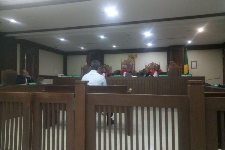 Sidang vonis Desrizal Chaniago di PN Jakarta Pusat, Selasa (17/12/2019).