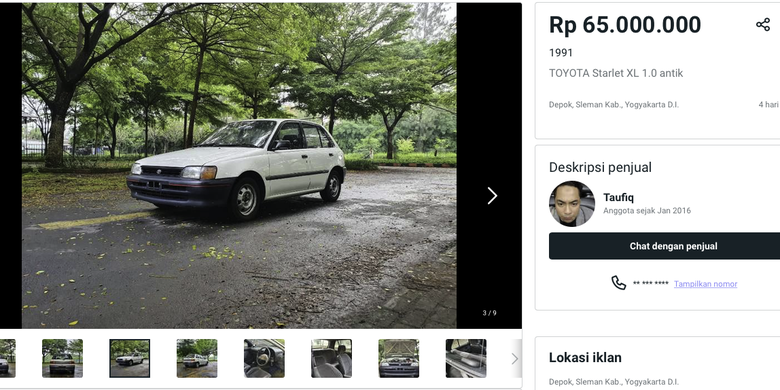 Toyota Starlet di Market Place