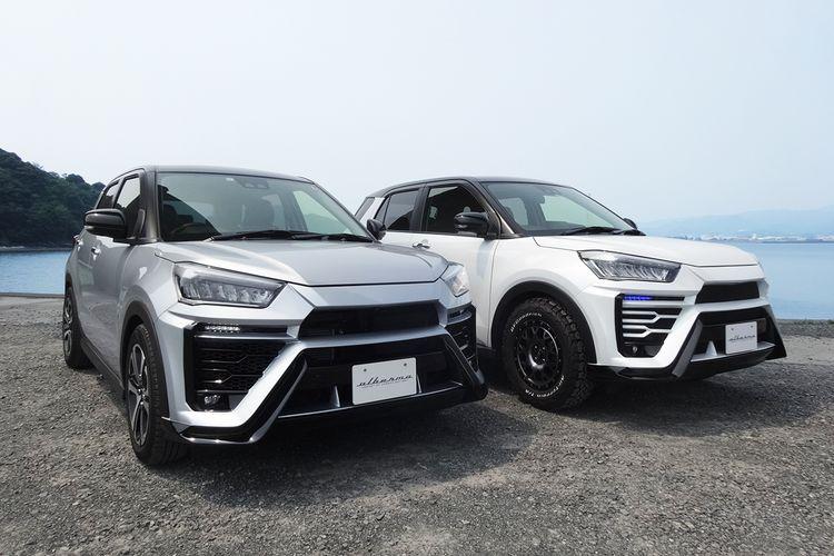 Daihatsu Rocky dan Toyota Raize yang telah dimodifikasi dengan body kit dari Albermo.