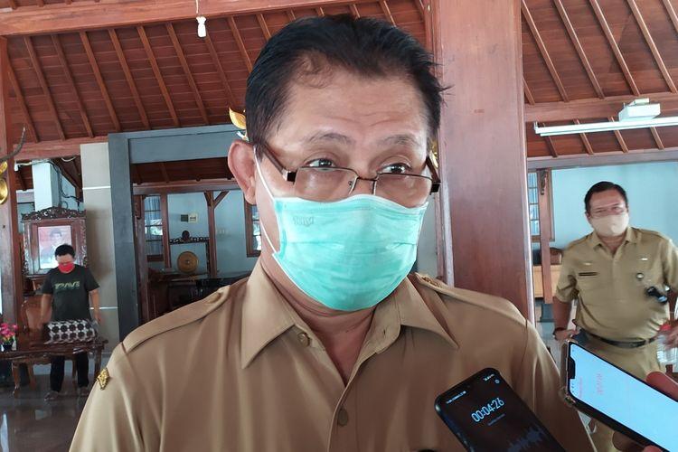 Kepala Dinkes Banyumas Sadiyanto di Pendapa Sipanji Purwokerto, Kabupaten Banyumas, Jawa Tengah, Senin (12/10/2020).