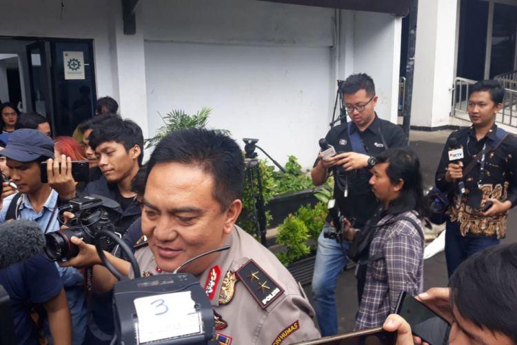Kepala Divisi Humas Mabes Polri Inspektur Jenderal M.Iqbal di gedung BNN, Jakarta, Rabu (6/3/2019).
