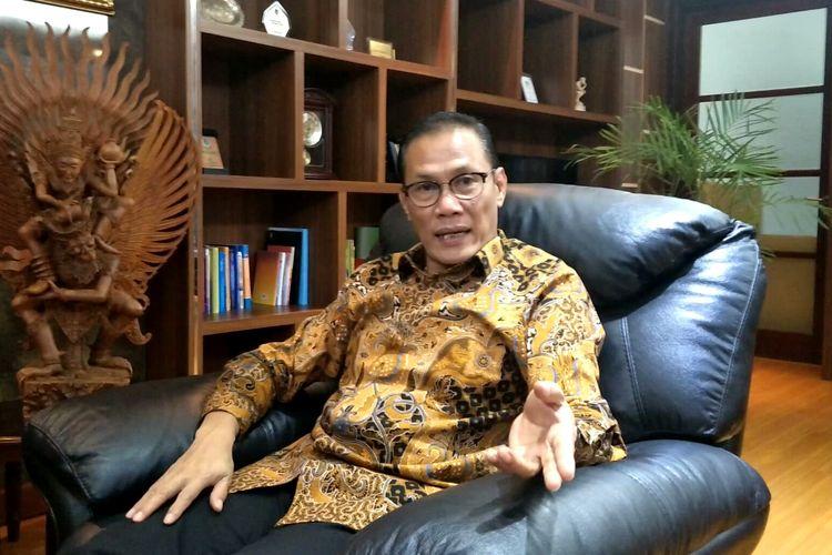 Kepala BPS Suhariyanto di Kantor BPS, Jakarta, Kamis (12/12/2019)