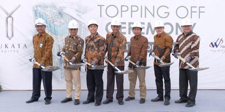 Triniti Land meresmikan penyelesaian konstruksi struktur Yukata Suites, Kamis (11/10/2018).