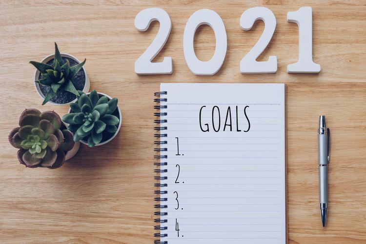 Ilustrasi menyusun daftar tujuan pada 2021.