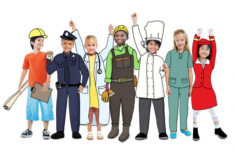 Anak-anak dengan pekerjaan yang dicita-citakan