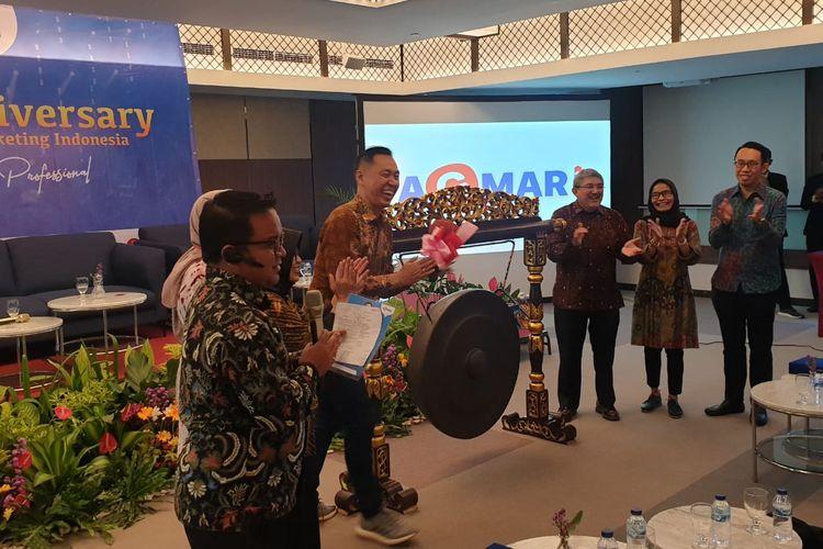 Simposiun Guru Marketing Indonesia diadakan AGMARI (Asosiasi Guru Marketing Indonesia) sekaligus memeringati HUT pertama di Jakarta pada Jumat (6/3/2020).