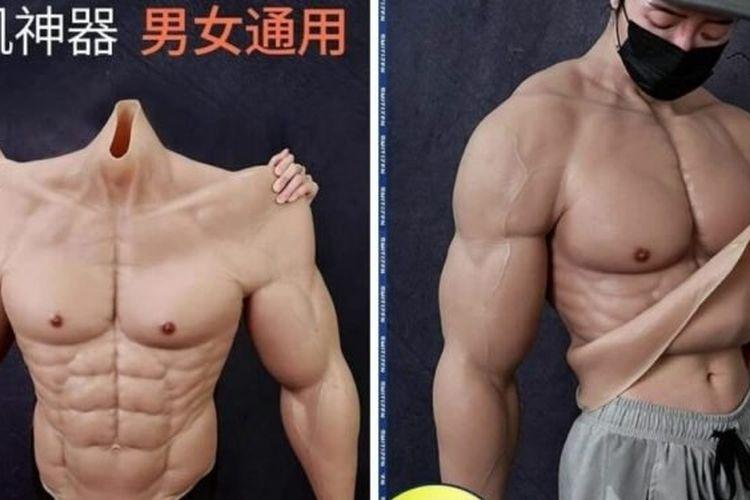 Sebuah perusahaan asal China, Smitizen, meluncurkan sebuah produk body suit badan kekar berbahan silikon.