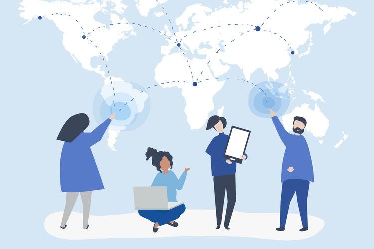 Ilustrasi globalisasi di berbagai bidang