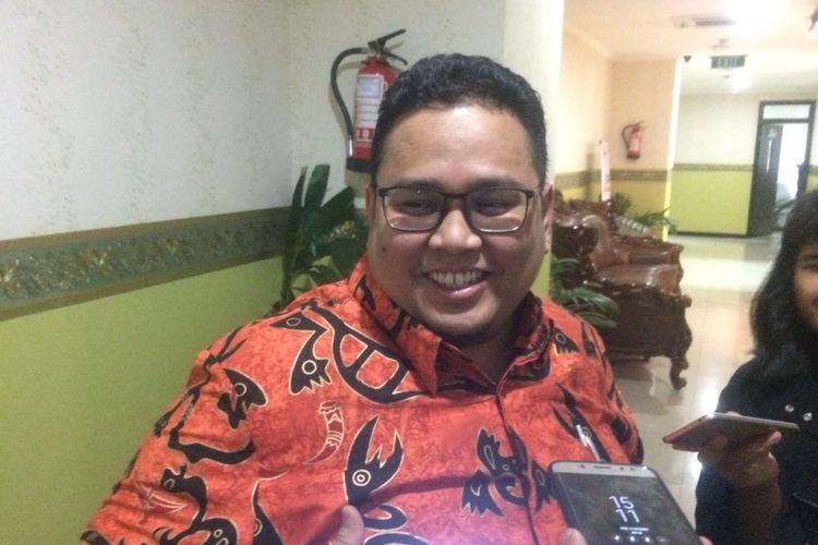 Anggota Badan Pengawas Pemilu (Bawaslu), Rahmat Bagja di Kantor Bawaslu RI, Jakarta Pusat, Rabu (10/10/2018).