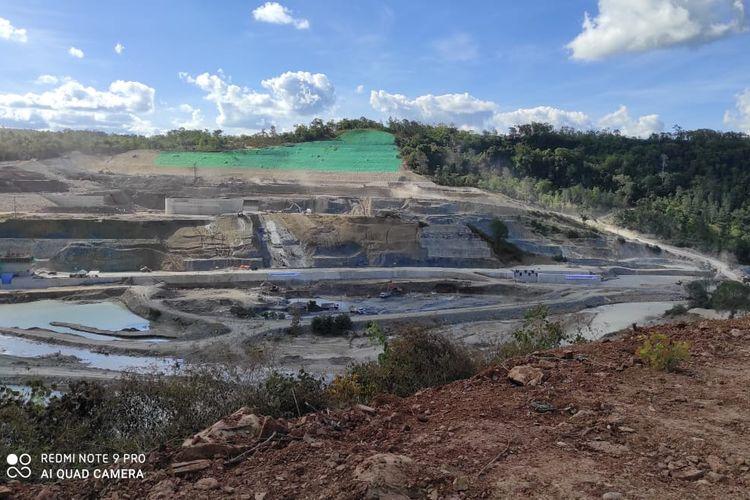 Progres pembangunan proyek Bendungan Temef di Nusa Tenggara Timur (NTT) Capai 50 Persen.