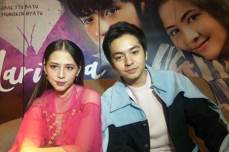Angga Yunanda dan Adhisty Zara dalam jumpa pers Gala Premier film Mariposa di XXI Epicentrum, Kuningan, Jakarta Selatan, Rabu (11/3/2020).