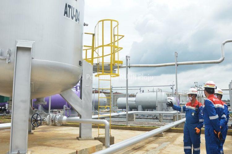 Menjelang libur akhir tahun 2020, jajaran direksi PT Kilang Pertamina Internasional meninjau langsung keandalan Kilang Pertamina Refinery Unit (RU) III Plaju, Palembang, Sumatera Selatan, Senin (21/12/2020).