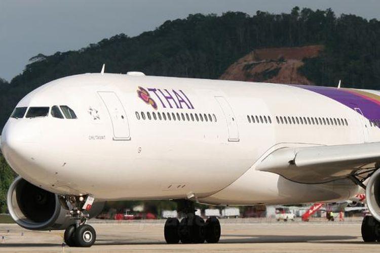 Pesawat jenis A 330-300 Thai Airways.