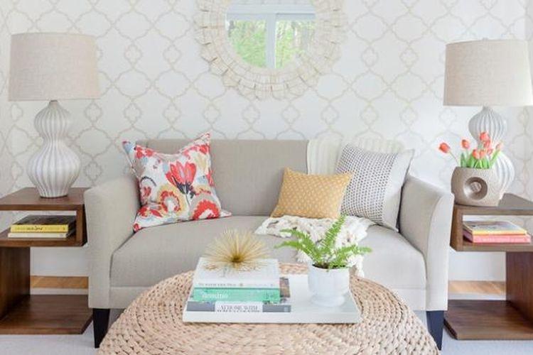 Ilustrasi ruang tamu. Ruang tamu berukuran kecil juga bisa digunakan pemilik rumah untuk menyambut tamu. Perlu penataan istimewa yang membuat ruang tersebut efektif.
