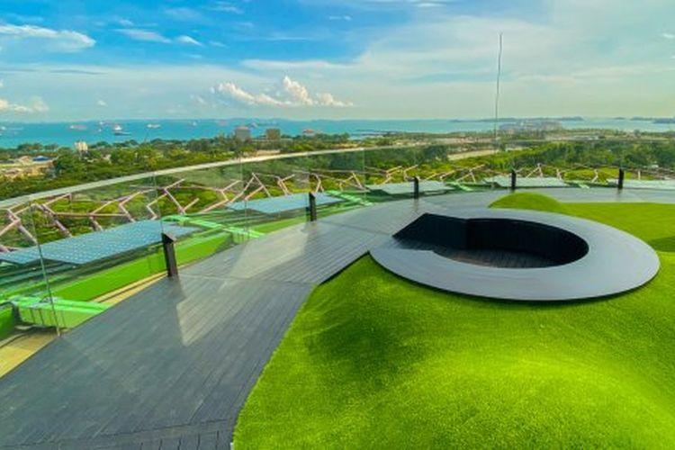 Area Supertree Observatory di Gardens by the Bay Singapura yang baru saja dibuka 27 Desember 2019