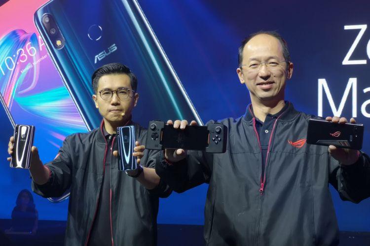 Kiri-Kanan: Jimmy Lin, SouthEast Asia Regional Director Asus, Rex Lee, SouthEast Asia Regional Director Asus di peluncuran Asus ROG Phone di Indonesia, Selasa (11/12/2018).