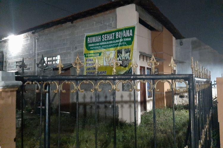 Rumah terduga teroris yang buka jasa pengobatan alternatif di Purwosari Perbalan, Semarang Utara.