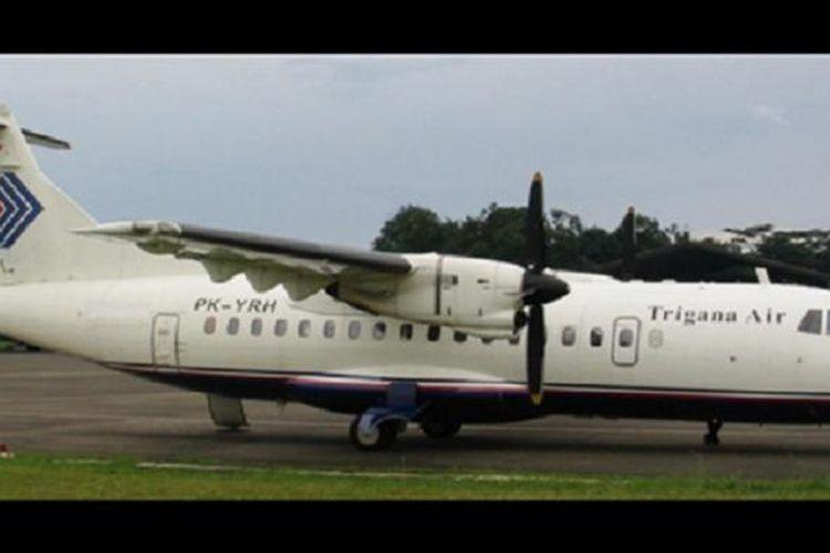 Pesawat jenis ATR 42 yang digunakan Trigana Air.