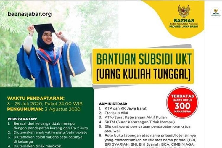 Beasiswa Badan Amil Zakat Nasional (Baznas) Provinsi Jawa Barat