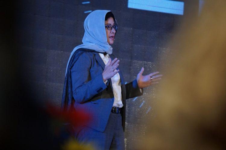 Calon wali kota Bandung nomor urut 1, Nurul Arifin, saat bicara dalam agenda Debat Publik Pilkada Kota Bandung 2018 di BnB Hotel Metro Indah Mall, Jalan Soekarno-Hatta, Minggu (25/3/2018).