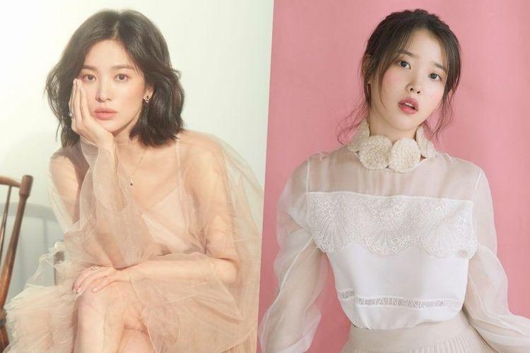 Aktris Song Hye Kyo dan penyanyi kenamaan Korea, IU.