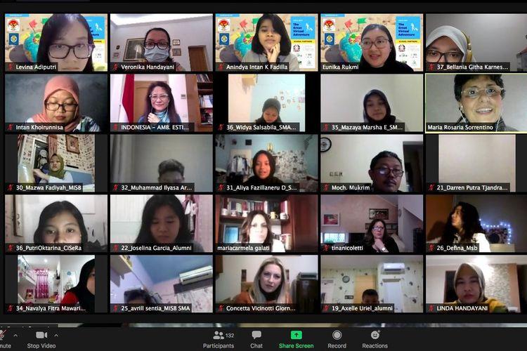 Pembukaan program CIALO 2021 diselenggarakan secara virtual (daring) pada Senin (1/2/2021), dihadiri lebih dari 140 peserta dari Indonesia dan Italia