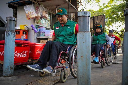 Tak Ramahnya Trotoar di Jalan Sabang untuk Penyandang Disabilitas