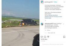 Viral Video Kecelakaan Tunggal di Tol Pemalang-Batang, Mobil Ditembus Besi Pembatas Jalan