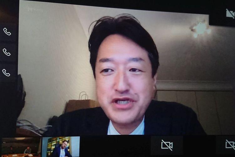 Chairman FIFPro Asia, Takuya Yamazaki, saat berbicara di acara dialog virtual bersama sejumlah jurnalis Asia termasuk KOMPAS.com pada Selasa (29/9/2020).