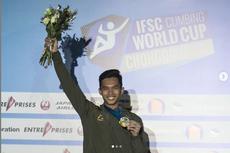 Alfian M Fajri Raih Medali Emas di Piala Dunia Panjat Tebing IFSC 2019