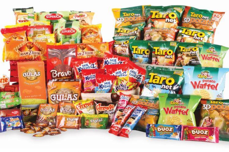 Ragam produk PT TPSF, salah satu yang paling terkenal adalah Taro.
