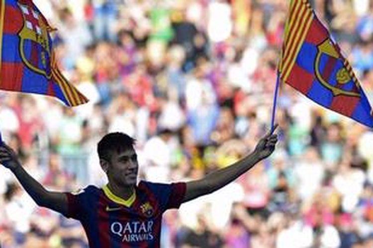 Penyerang baru Barcelona, Neymar.