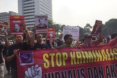 Desak Hentikan Kasus Dandhy Laksono, AJI Aksi Jalan Mundur