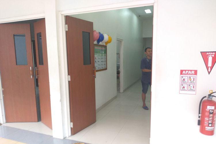 Jasad AG di Ruang Jenazah RSUD dr Soedjati Purwodadi, Grobogan, Jateng, Selasa (17/9/2019)