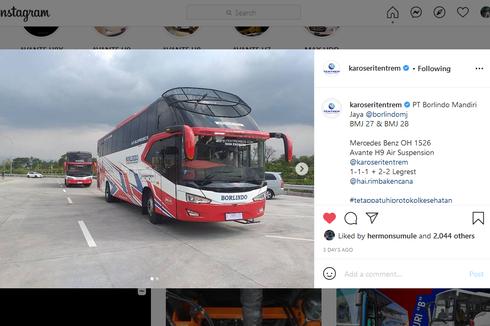 PO Borlindo Rilis Lagi 2 Unit Bus Baru dari Karoseri Tentrem