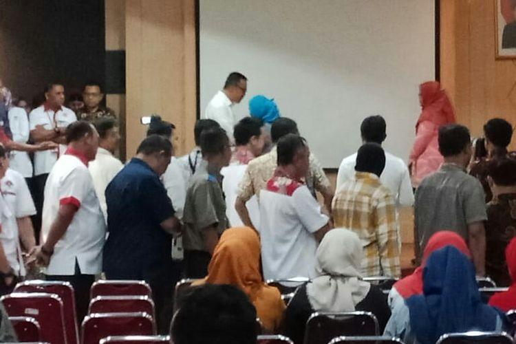 Menpora Imam Nahrawi perpisahan dengan pegawai Kemenpora(KOMPAS.com/RAKHMAT NUR HAKIM)