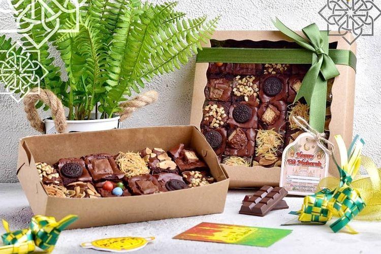Brownies yang jadi salah satu pilihan dalam hamper Lebaran di Yummy Food and Bakery, Solo