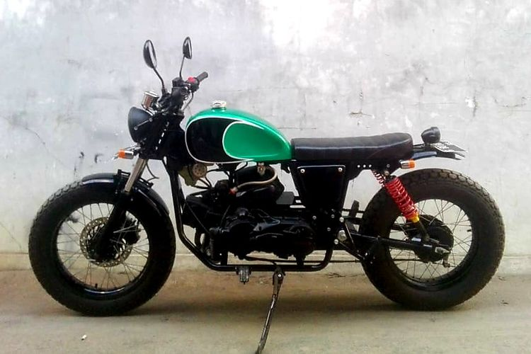 Motor custom Honda Vario 110 bergaya street tracker garapan Go On Project Motorcycle